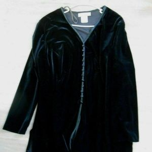 Piccalino Plus black velvet tunic 22W